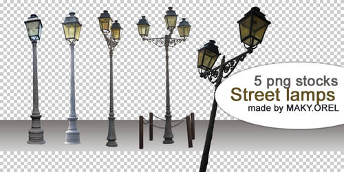 PNG STOCK SET: Street lamps