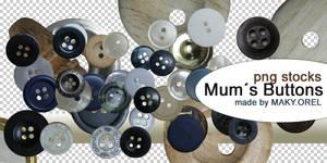 PNG STOCK SET: Mums buttons