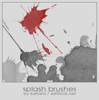 splash brushes by kahara