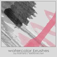 watercolor brushes by kahara
