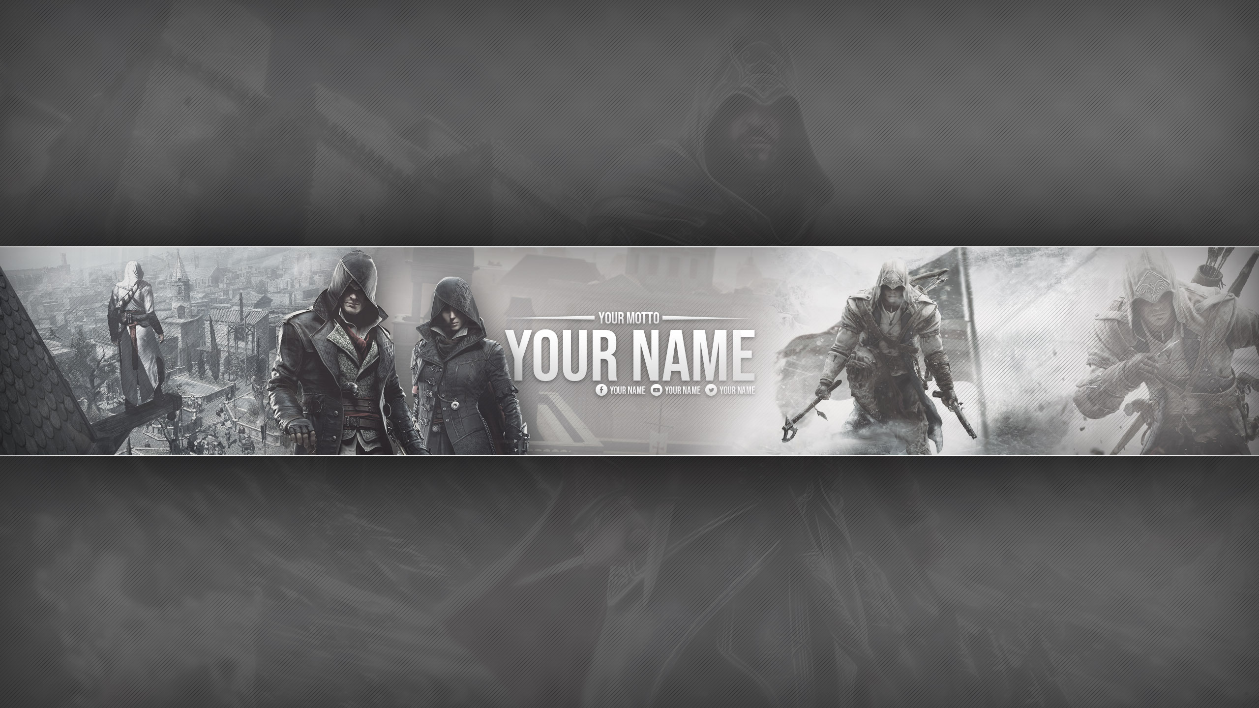 Youtube Banner Assassin S Creed Series Theme By Voton249 On