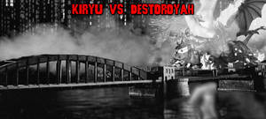 The KaijuX Canon - Kiryu vs. Destoroyah (GIF) by KaijuX