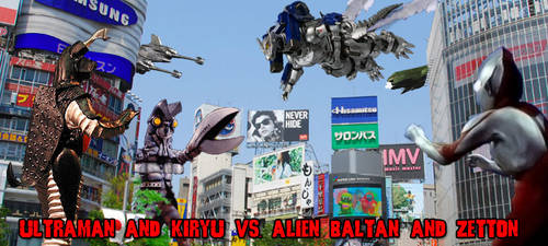 Former Banners - Ultra+Kiryu vs. Baltan+Zetton by KaijuX