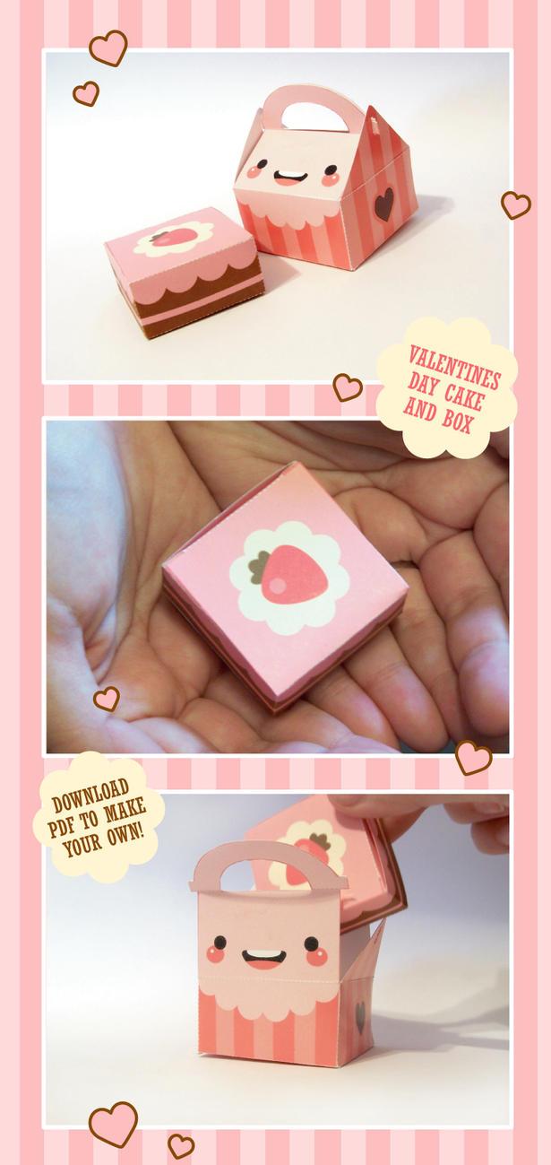 Valentines Cake + Cake Box by milkbun