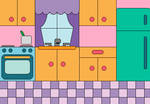 Coloring Book: Cute Kitchen