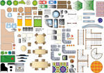 Furniture Plan Symbols by FarawayPictures