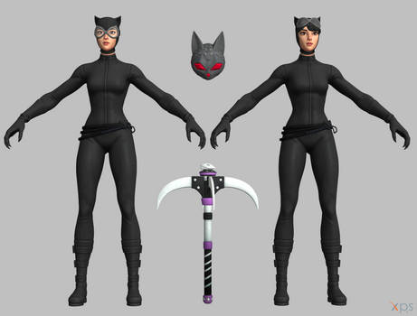 Fortnite - Catwoman Comic Book Outfit SET