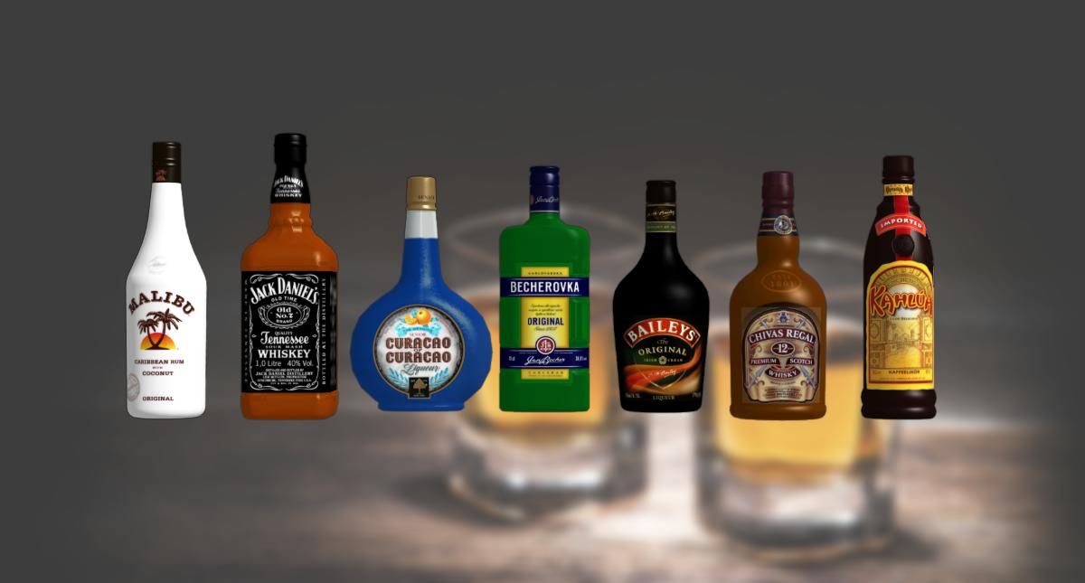 Liquor bottles by wakind on deviantart for Liquor bottle art