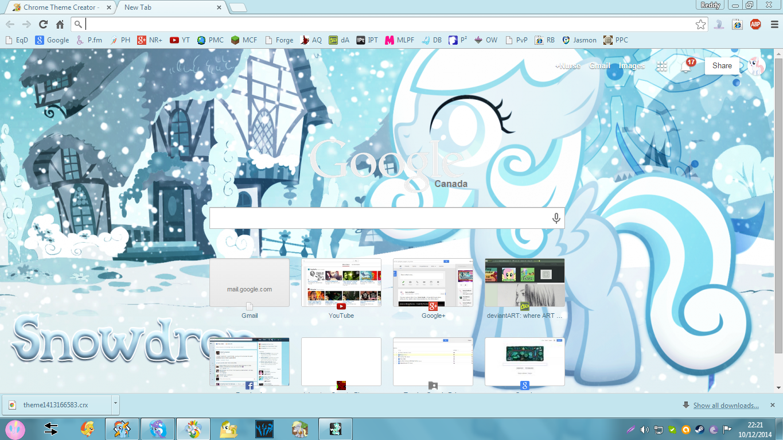 Gmail theme creator -  Snowdrop Google Chrome Theme V1 0 By Xxzombloxxorxx