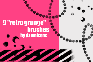 """retro grunge"" brushes by Sarah-Dipity"