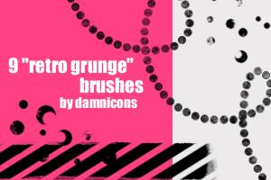 'retro grunge' brushes by Sarah-Dipity