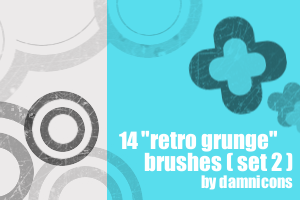 "14 more ""retro grunge"" brushes by Sarah-Dipity"