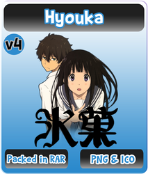 Hyouka v4 - Anime Icon by Rizmannf