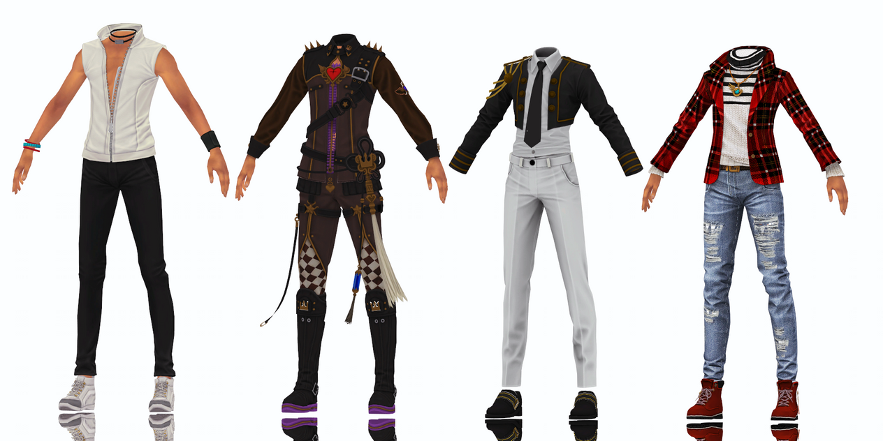 MMD: Male Bns Outfits 3 Dl By Donkewi On DeviantArt