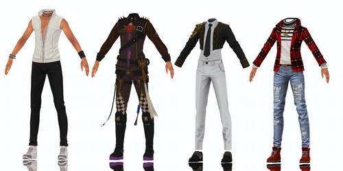 MMD: male bns outfits 3 dl