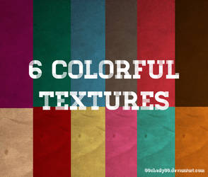 6 Colorful paper textures by 00cheily00