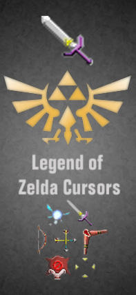 Legend of Zelda Cursors by Bewilderbeast