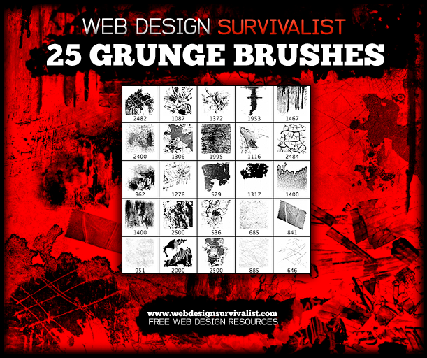 Grunge Brushes Preview