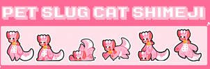 Pet slug cat shimeji- Instructions in desc. by Kaiidumb