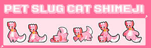 Pet slug cat shimeji- Instructions in desc.