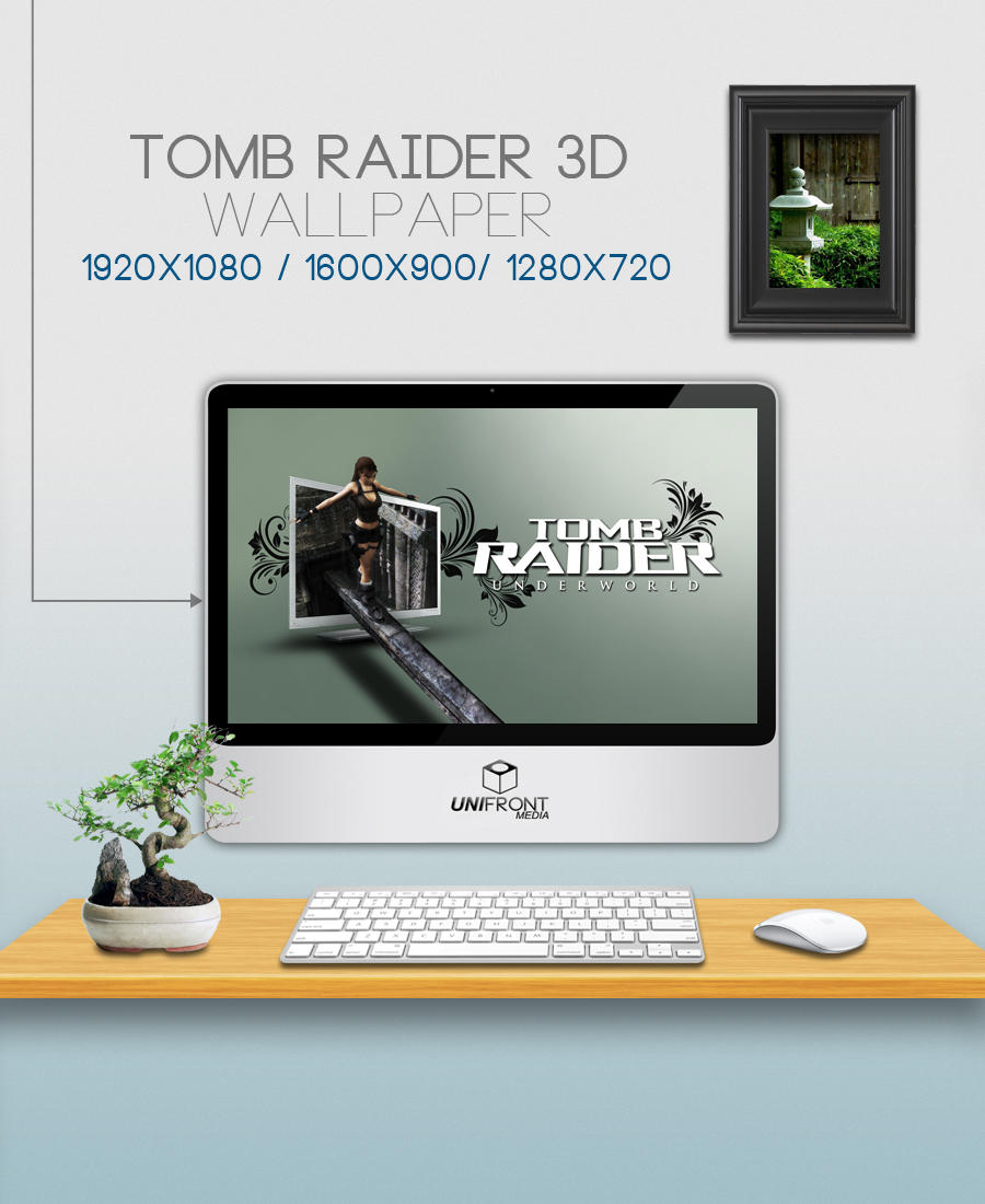 3d Tomb Raider Wallpaper: Tomb Raider 3D Wallpaper By Unifront Media By Castrocr08
