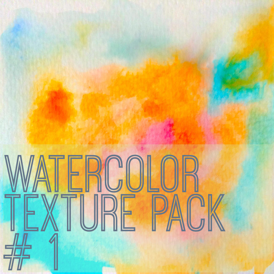 Watercolor Texture Pack # 1 by fraffee