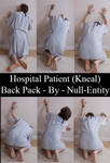 Hospital Patient (Kneal) Back Pack by Null-Entity
