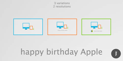 Happy Birthday, Apple by jimirobaer