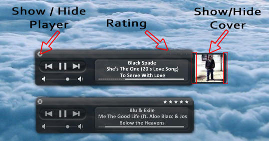 iTunes HUD for CD Art Display by cirixkid