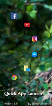 Quick App Launch 1.0 [Rainmeter]