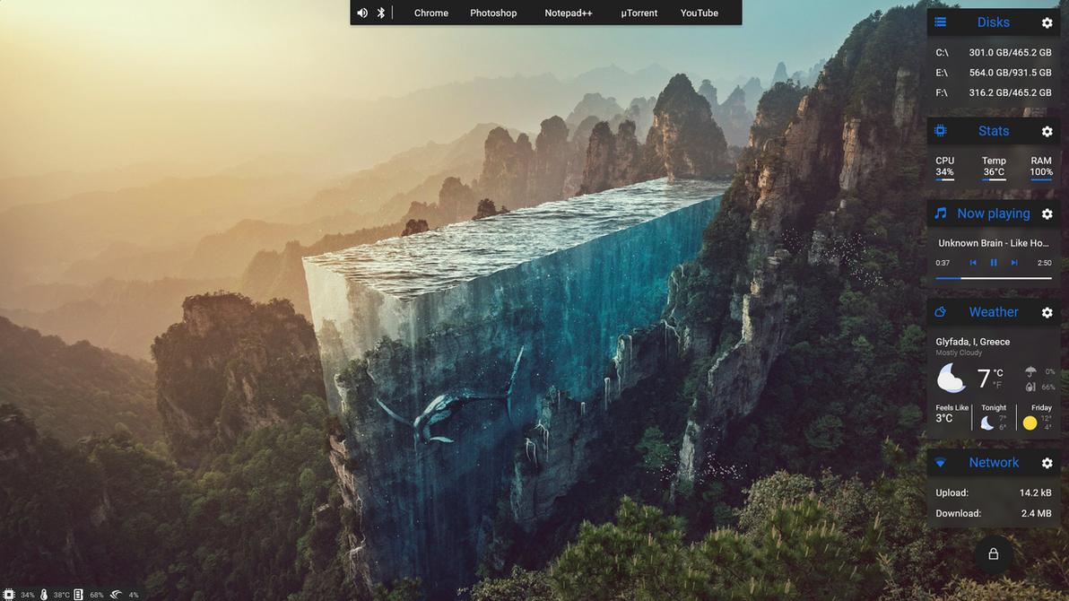 Current Desktop by kyriakos098