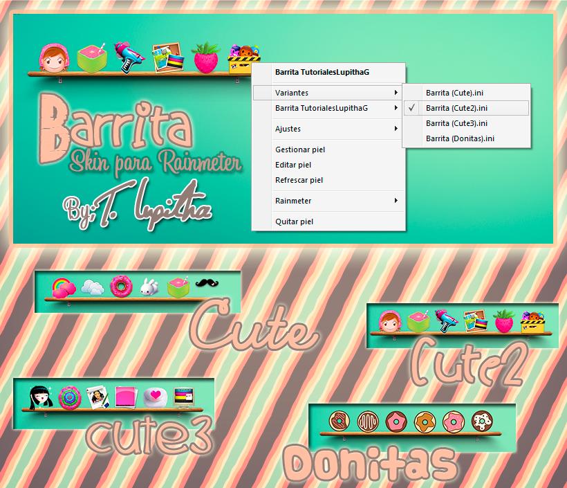 Barrita {Skin para Rainmeter} by tutorialeslupitha
