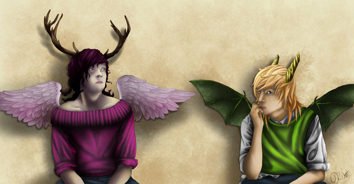 The Deer and the Dragon by MinecrafterNenagirl