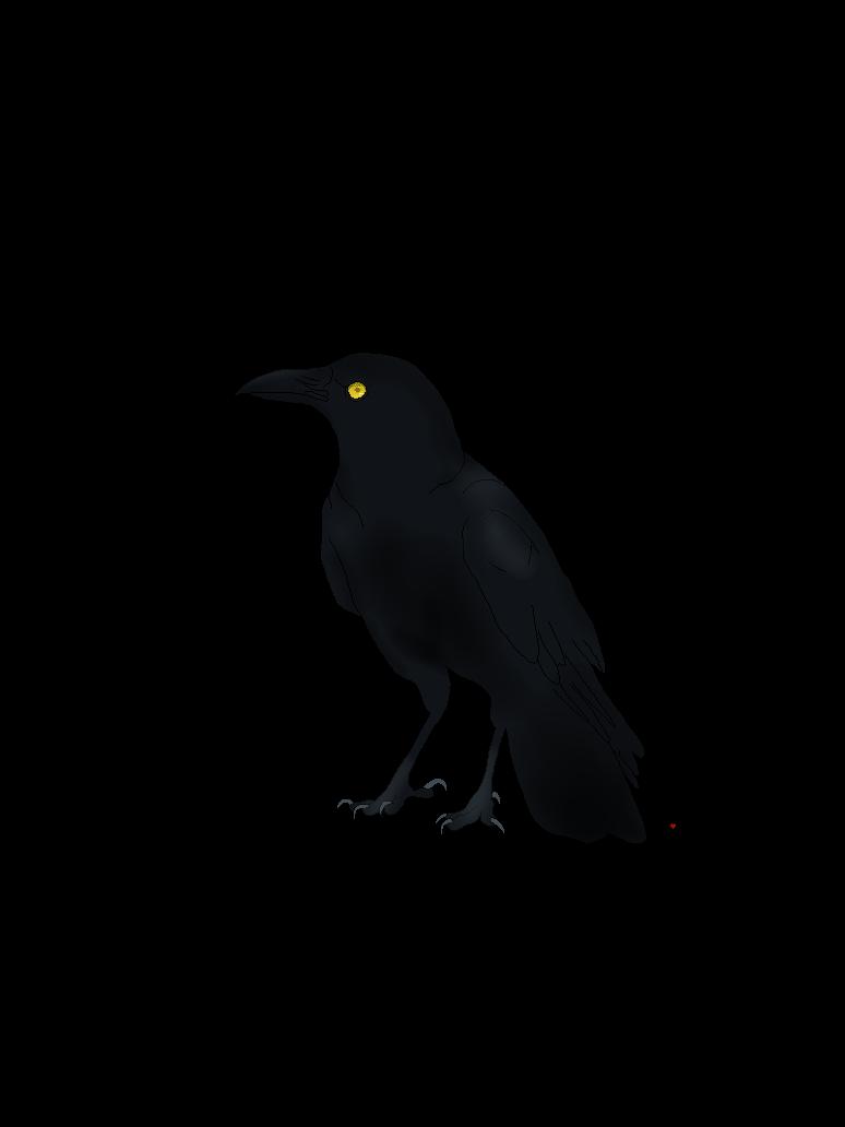 Гиф ворона каркает пышные, толстые