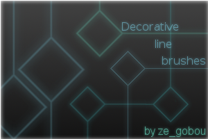 Decorative line brush set by pwassonne