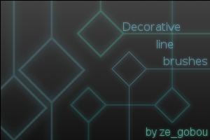 Decorative line brush set by pwassonne