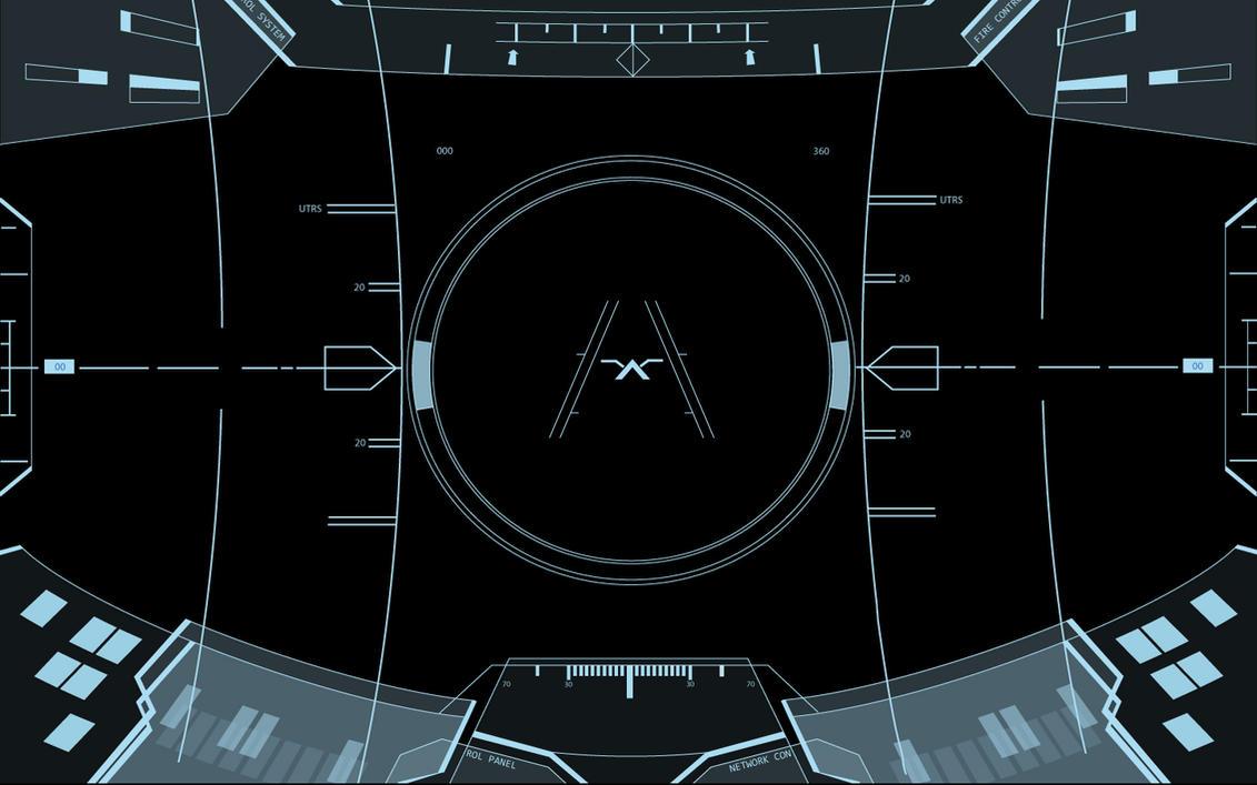Halo Prototype HUD - Blue by Entereri