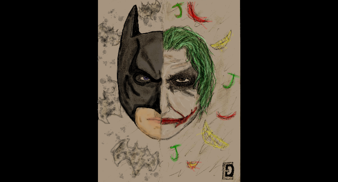 Batman Joker Face Shot Drawing By Jijojingy