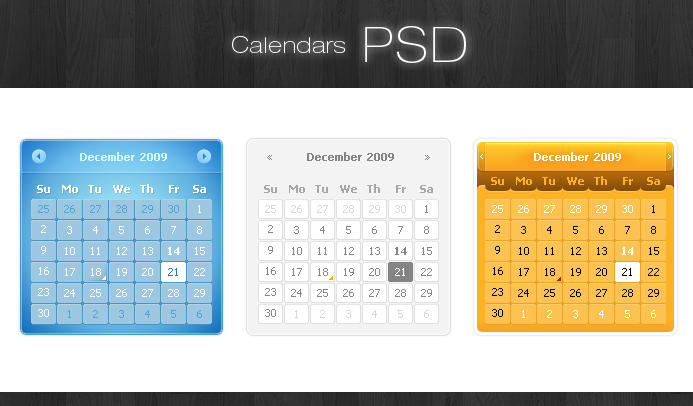 Calendars PSD by taytel