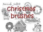 christmas brushes by XXhuMandoLLXX