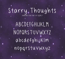 Starry Thoughts Free Font