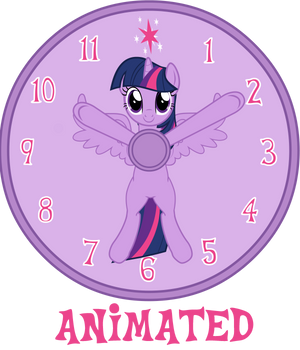 MLP CLOCK - Update 2 by CheshireTwilight