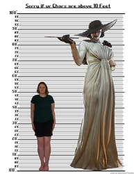 Character Height Chart (Lady Dimitrescu and Me)