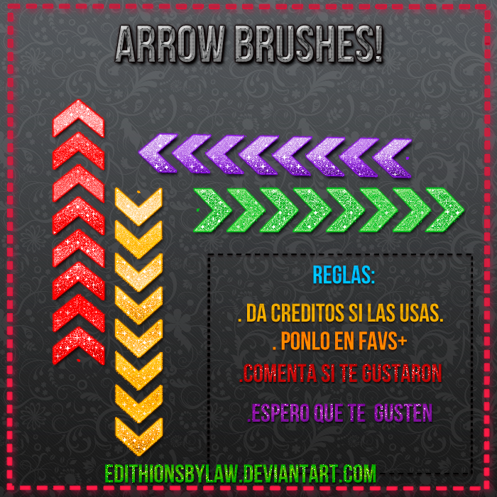 Pack de Arrow Brushes by EdithionsbyLaw