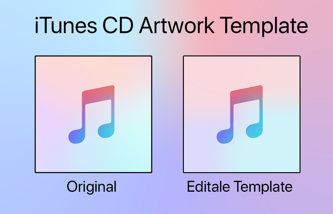 iTunes CD Artwork Missing Template V2 (Editable) by Marhull on