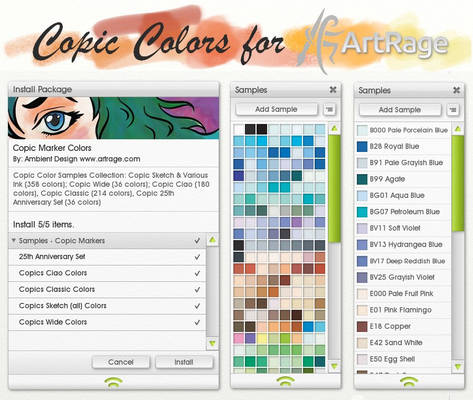 Copic Colors for ArtRage