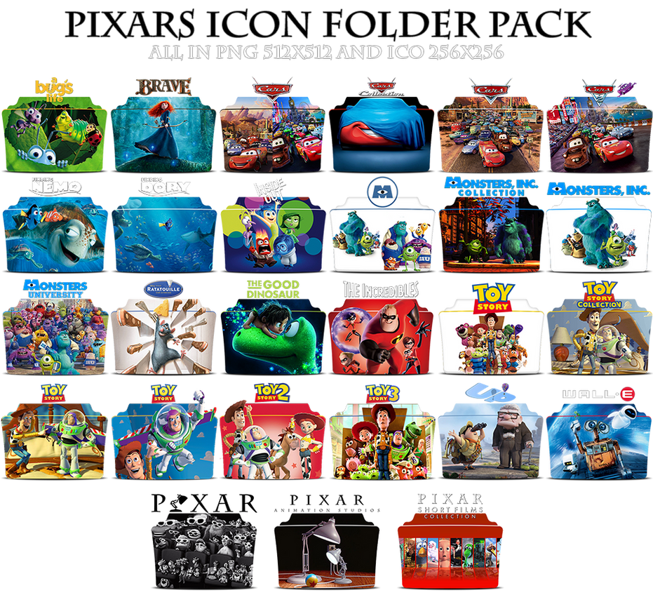 pixar icon folder packmohandor on deviantart