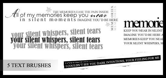 WT Lyrics Brushes by xVanillaSky