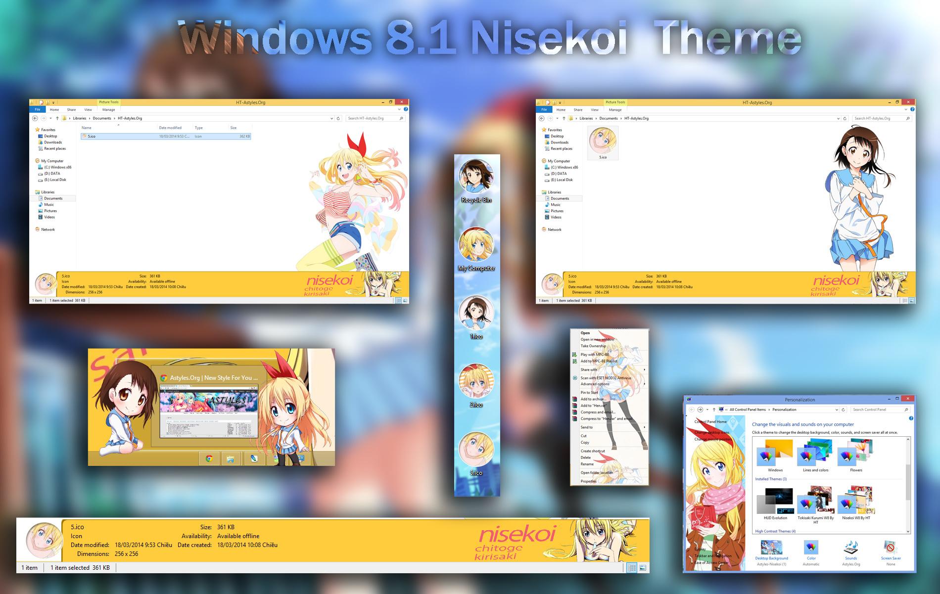 9 anime and cartoon themes for windows 7.