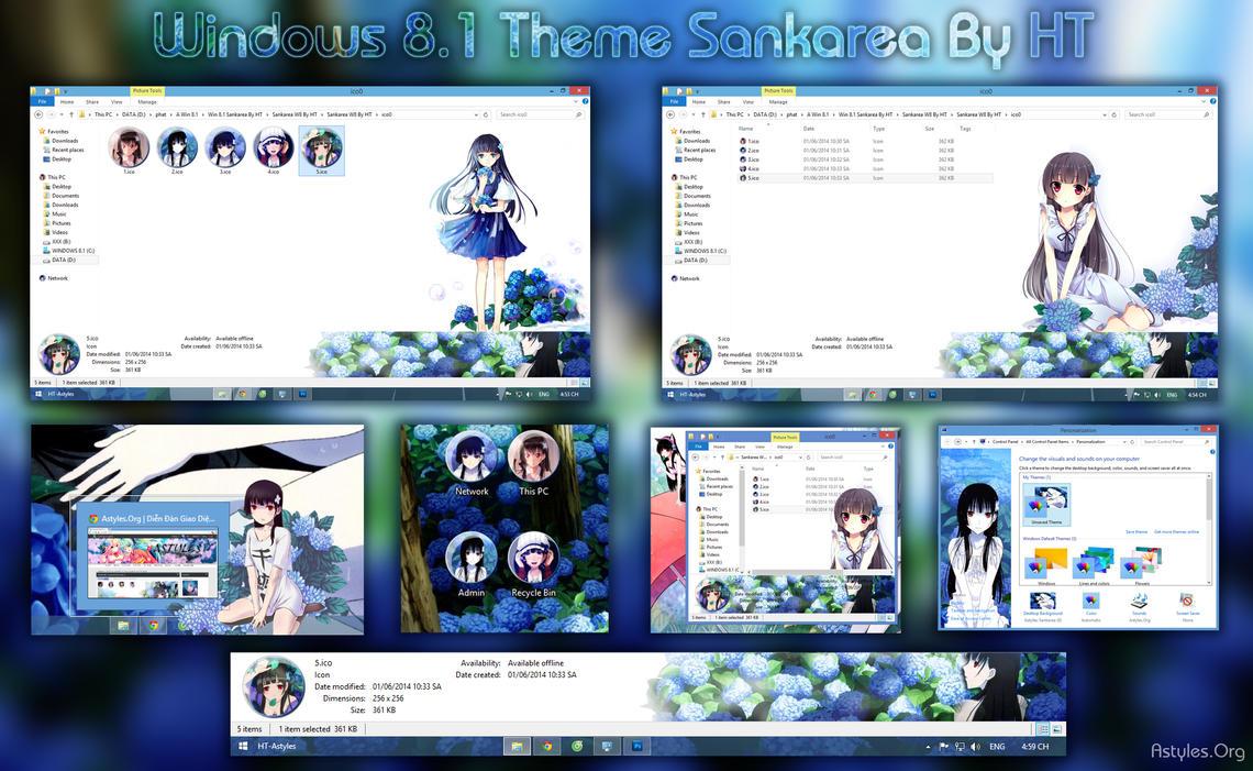 Anime windows 10 theme themepack. Me.